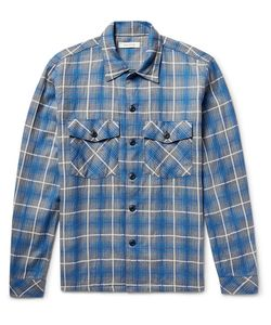 NONNATIVE | Trooper Slim-Fit Checked Cotton-Blend Shirt
