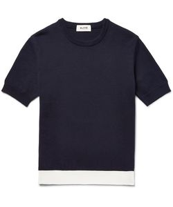 Aloye | Contrat-Trimmed Knitted Cotton Weater