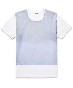 Aloye | Poplin-Panelled Cotton-Jersey T-Shirt
