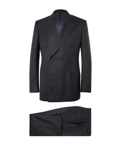Kingsman   Harry Slim-Fit Pinstriped Super 120s Wool And Cashmere-Blend