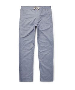 Oliver Spencer Loungewear | Lux Cotton-Chabray Lounge Trousers