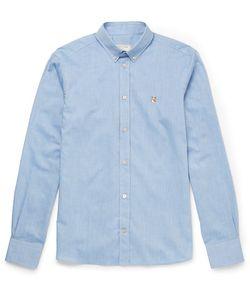 Maison Kitsune | Maison Kitsuné Slim-Fit Button-Down Collar Cotton-Chambray Shirt