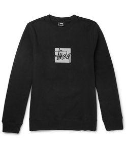 Stüssy | Tüy Lim-Fit Reflective-Print Cotton-Blend Jerey Weathirt