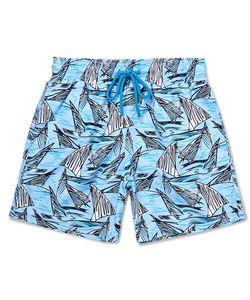 Vilebrequin   Viebrequin Moorea Mid-Ength Printed Swim Shorts Bue