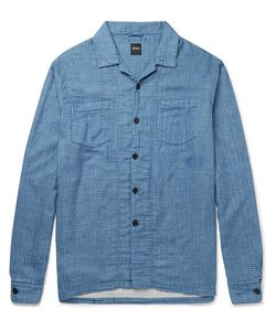 Albam | Island Camp-Collar Checked Cotton Shirt