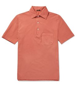 RUBINACCI | Slim-Fit Cotton-Piqué Polo Shirt