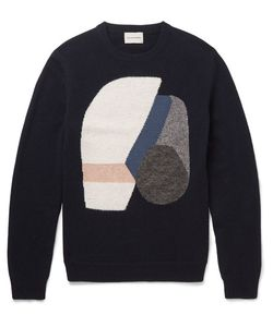 Solid Homme | Intarsia Wool-Blend Sweater