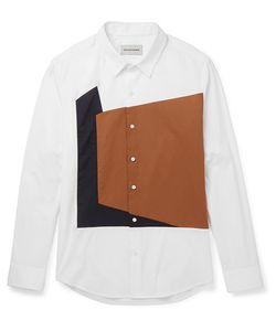 Solid Homme | Slim-Fit Panelled Cotton-Blend Poplin Shirt