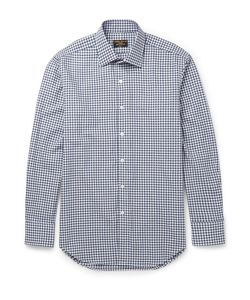 Emma Willis | Slim-Fit Gingham Brushed-Cotton Shirt