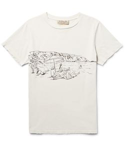 Remi Relief | Printed Ditreed Cotton-Jerey T-Hirt Off-
