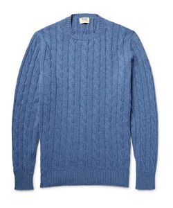 William Lockie | Orwell Cable-Knit Mélange Cashmere Sweater