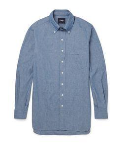 Drake's | Button-Down Collar Cotton-Chambray Shirt