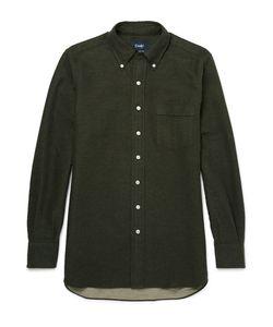 Drake's | Button-Down Collar Brushed-Cotton Shirt