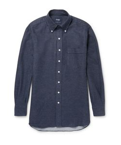 Drake's | Button-Down Collar Cotton-Flannel Shirt