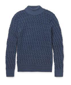 S.N.S. HERNING | .N. Herning Tark Baketweave Virgin And Merino Wool-Blend Weater