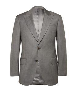 GIEVES & HAWKES | Grey Slim-Fit Sharkskin Wool Suit Jacket