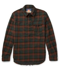 Blackmeans | Slim-Fit Checked Cotton-Flannel Shirt