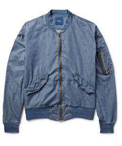Beams | Beam Ma-1 Cotton-Chambray Bomber Jacket