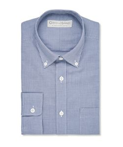 GIEVES & HAWKES | Gieve Hawke Button-Down Collar Gingham Cotton Hirt