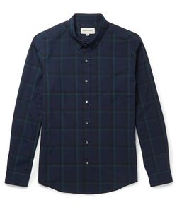 Solid Homme | Slim-Fit Checked Cotton-Blend Shirt