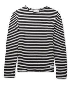 Ami   Slim-Fit Striped Cotton T-Shirt