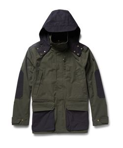 The Workers Club | Hooded Two-Tone Cotton-Canvas Jacket Ary Green