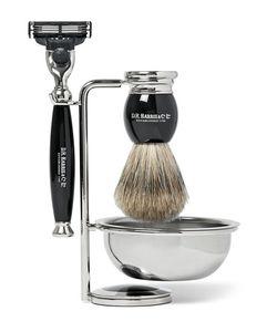 D R Harris | Four Piece Ebony Shaving Set