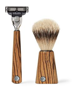 Czech & Speake | Zebrano Wood Shave Set