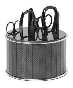 Bamford Grooming Department | Stainless Steel And Carbon Fibre Manicure Set