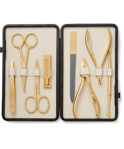 Czech & Speake | Leather-Bound Manicure Set