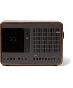 Revo   Superconnect Walnut And Aluminium Wifi/Dab/Dab/Fm Table Radio