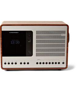 Revo   Superconnect Walnut And Aluminium Radio