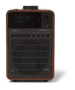 Revo   Supersignal Walnut And Aluminium Dab/Dab/Fm Table Radio