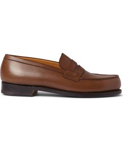 J.M. Weston | 180 The Moccasin Grained-Leather Loafers