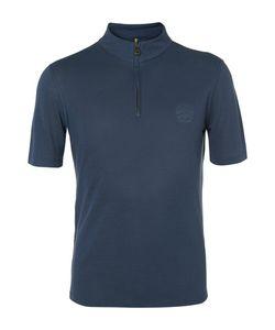 Iffley Road   Idmouth Dri-Releae Half-Zip Running T-Hirt Torm Blue