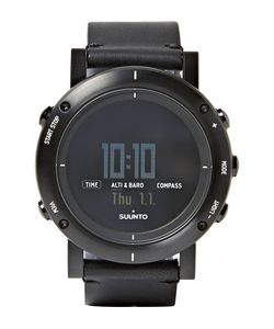 SUUNTO | Essential Stainless Steel And Leather Digital Watch
