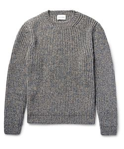Solid Homme | Mélange Ribbed-Knit Sweater