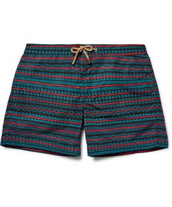 THORSUN | Titan Slim-Fit Mid-Length Printed Swim Shorts