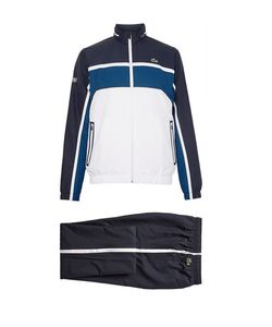 Lacoste Tennis | Hooded Colour-Block Jersey Tracksuit