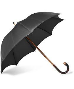 FRANCESCO MAGLIA | Lord Chestnut Wood-Handle Twill Umbrella
