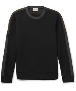 Solid Homme | Zip-Detailed Panelled Neoprene Sweatshirt