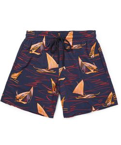 Vilebrequin | Istral Id-Length Ebroidered Swi Shorts