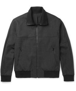 Solid Homme | Wool-Blend Bomber Jacket