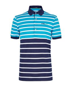 RLX Ralph Lauren | Two-Tone Triped Tretch-Piqué Polo Hirt Turquoie