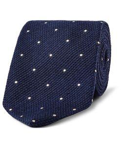 Drake's | 8cm Polka-Dot Wool And Silk-Blend Tie