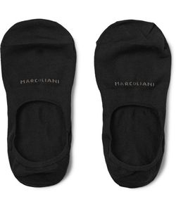 Marcoliani | Invisible Touch Pima Cotton-Blend No-Show Socks