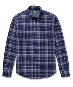Gitman Vintage | Slim-Fit Checked Cotton-Flannel Shirt