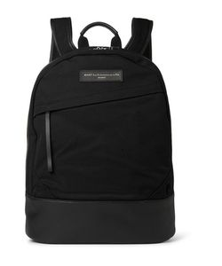 Want Les Essentiels | Kastrup Leather-Trimmed Organic Cotton-Canvas Backpack