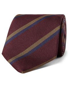 Drake's | 8cm Striped Silk-Faille Tie