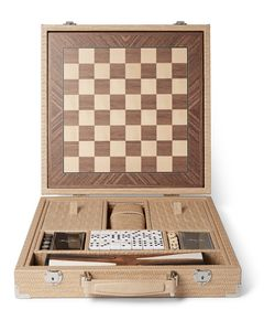 Hector Saxe | Embossed Leather Game Set